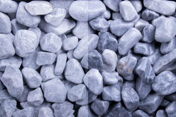 Kristall Blau getrommelt, 15-25mm