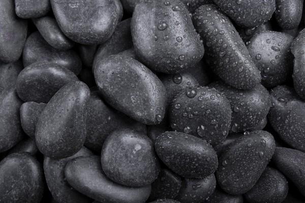 Glanzkies schwarz , 10-35mm