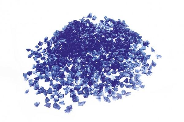 Glassplitt Blue Violet, 5-10mm