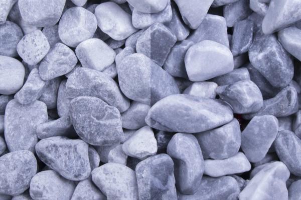 Kristall Blau getrommelt, 25-40mm